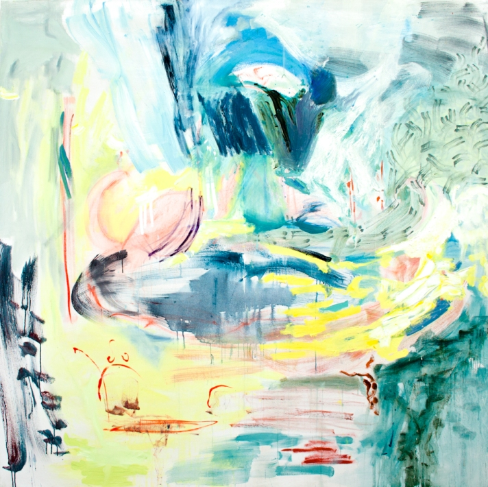 Wishing Well  200cm x 200cm  oil on canvas  2015