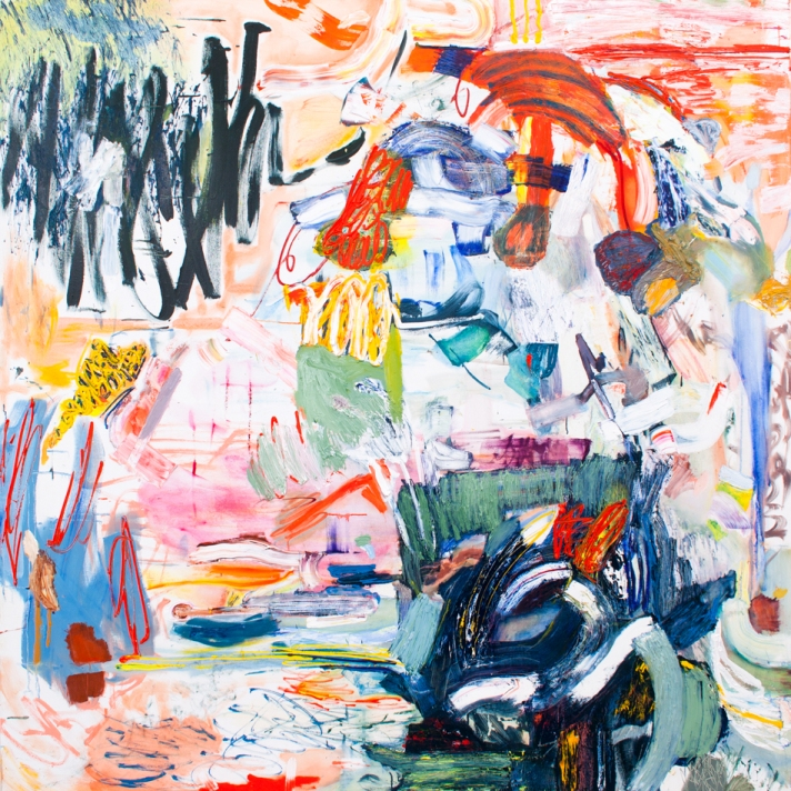 We Real Cool 200cm x 200cm oil on canvas 2015
