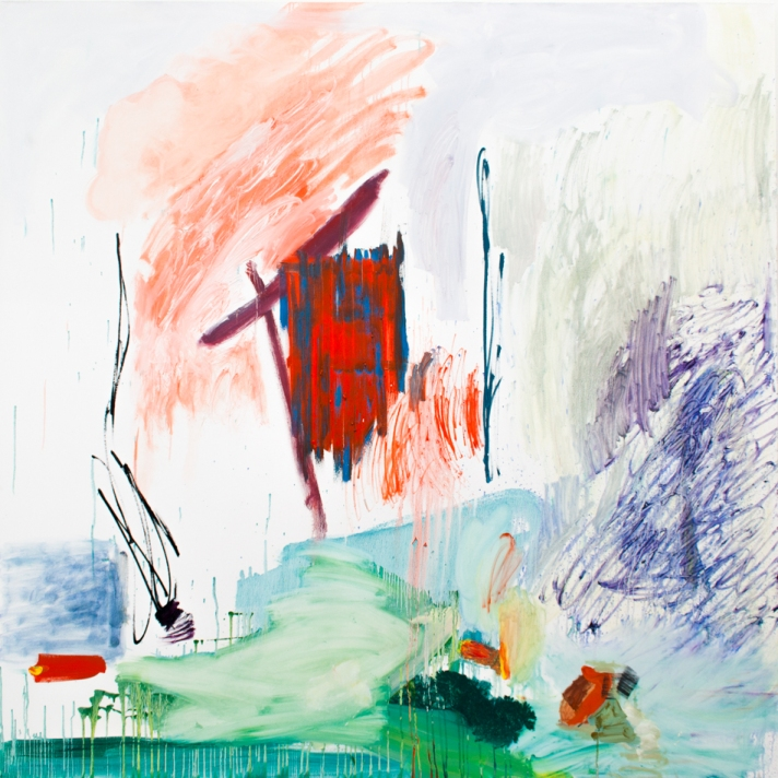 Cold Cold Ground 200cm x 200cm oil on canvas 2015